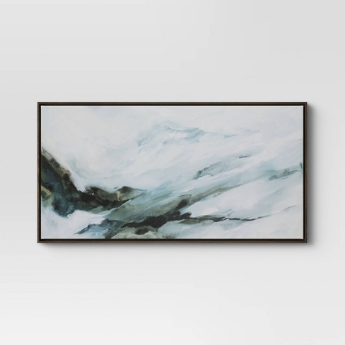 """47"""" x 24"""" Abstract Mountain Framed Canvas - Project 62™ - image 1 of 3"""
