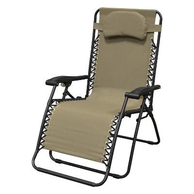 Oversized Infinity Zero Gravity Chair - Beige - Caravan