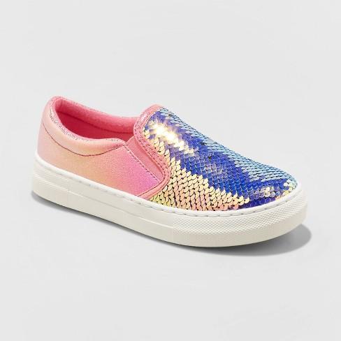 Girls' Welda Flip Sequin Sneakers - Cat & Jack™ Pink - image 1 of 3