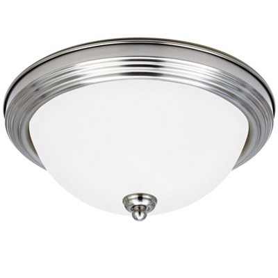 Generation Lighting Geary 1 light Brushed Nickel Ceiling Fixture 7716393S-962