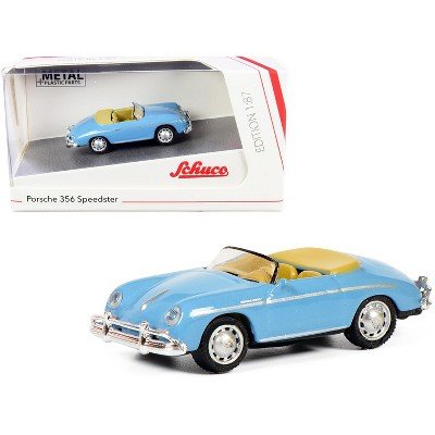 Porsche 356 Speedster Light Blue 1/87 (HO) Diecast Model Car by Schuco