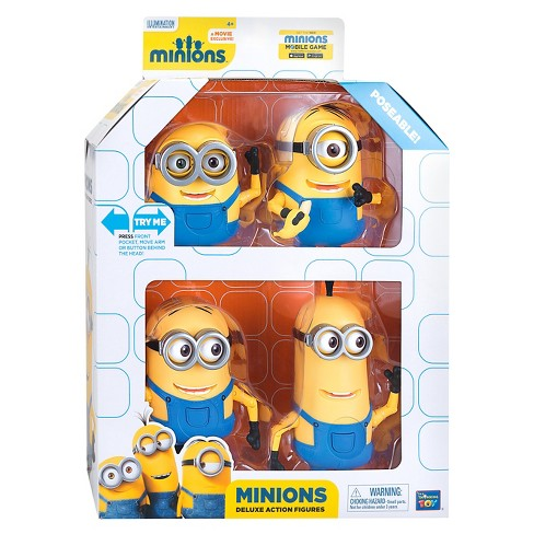 Despicable Me Minion Deluxe Action Figures Set- 4 Piece - image 1 of 2