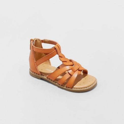 Toddler Girls' Kairi Gladiator Sandals - Cat & Jack™ Cognac - image 1 of 4