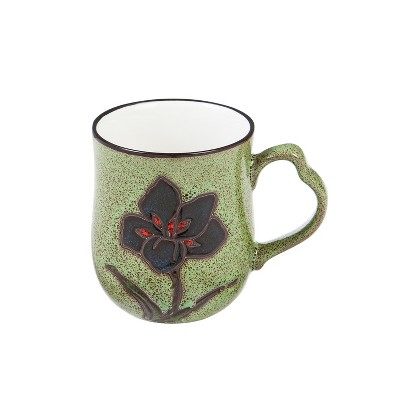 Cypress Home Artisan Series Cup, 10 OZ., Green Wistful Floral