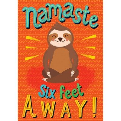 One World Namaste Six Feet Away Poster - Carson Dellosa