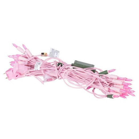 Vickerman 9' LED End Connecting String Lights 50ct Dura-Lit Pink - Pink Wire - image 1 of 3