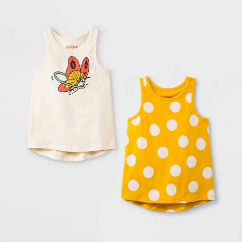 Toddler Girls' 2pk Tank Top - Cat & Jack™ Cream/Yellow - image 1 of 1