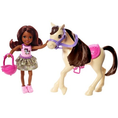 Barbie Club Chelsea Doll and White Pony