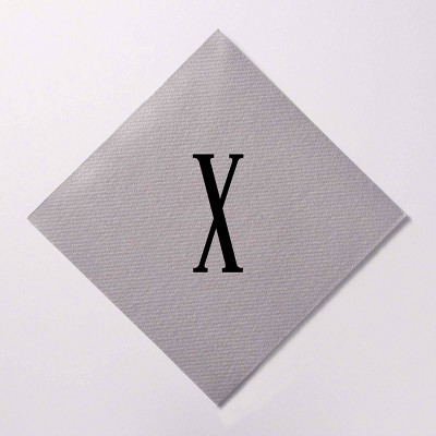 """50ct 5""""x5"""" Personalized Lettering Linen Like Beverage Napkins"""