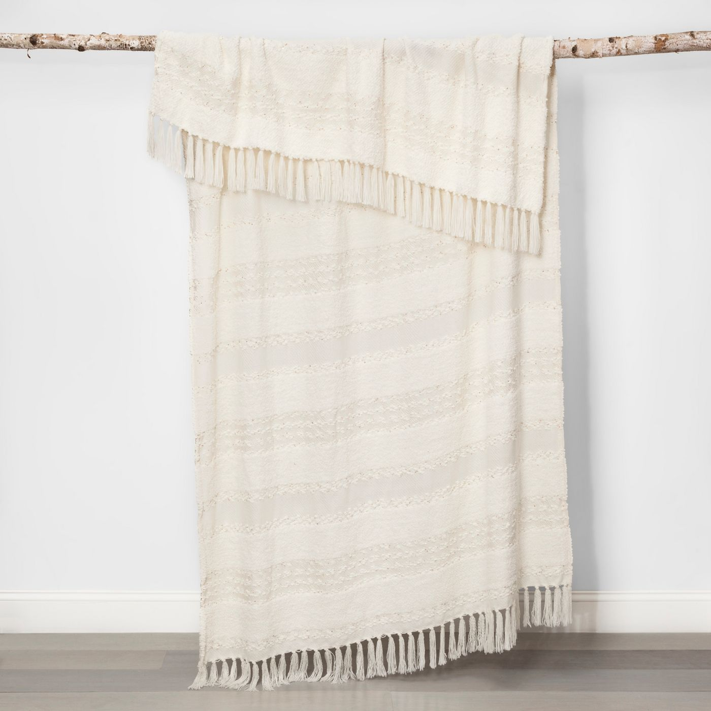 Chenille Moroccan Wedding Bed Throw Cream - Opalhouse™ - image 2 of 5