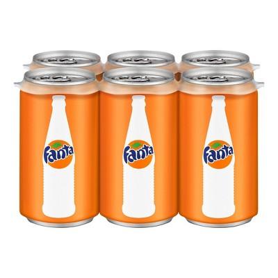Fanta Orange Soda - 6pk/7.5 fl oz Mini-Cans