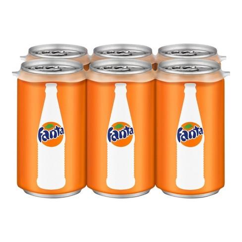 Fanta Orange Soda - 6pk/7.5 fl oz Mini-Cans - image 1 of 3