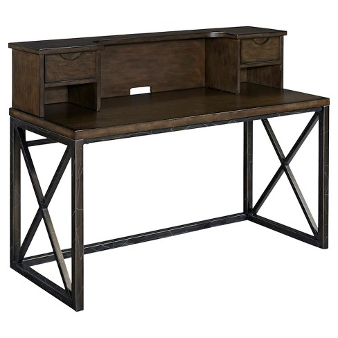 Xcel Office Desk With Hutch Cinnamon Home Styles