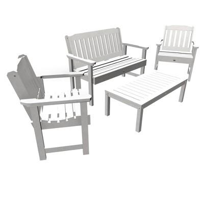 4pc Lehigh Garden Adirondack Conversation Patio Set - highwood