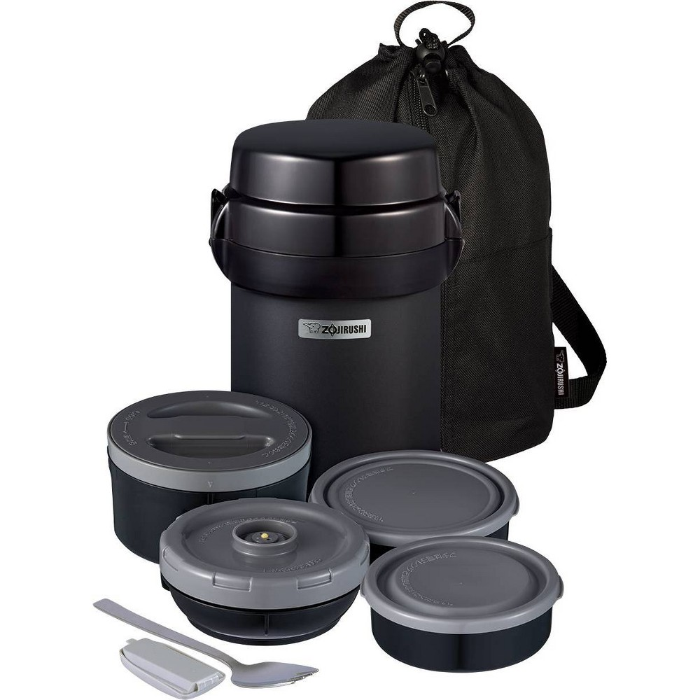 Image of Zojirushi Mr. Bento Stainless Lunch Jar Black Carbon