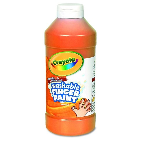 Crayola® Washable Fingerpaint 16oz Orange - image 1 of 1
