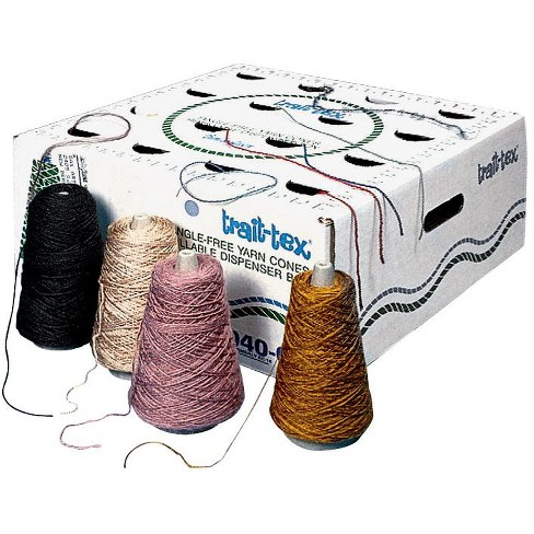 Trait Tex Acrylic Polyester Wool Blend Colored Yarn, Dispenser Box, Assorted Earthtone Color, 4 Oz, set of 16 - image 1 of 1