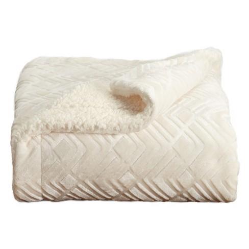 Home Fashion Designs Reversible Sherpa & Velvet Plush Blanket - image 1 of 4
