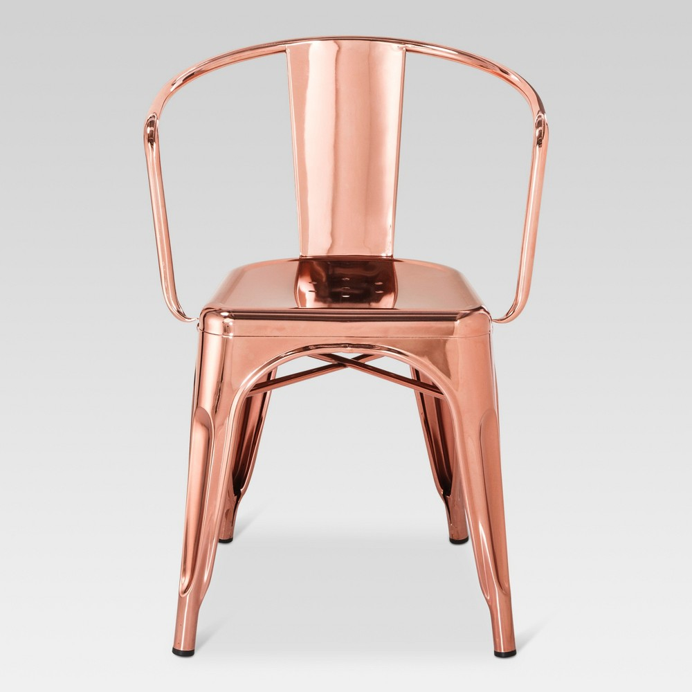 Carlisle Metal Dining Chair - Rose Gold - Threshold, Shiny Rose Gold