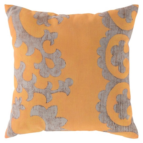 "Sunflower Floral Throw Pillow 20""x20"" - Surya® - image 1 of 2"