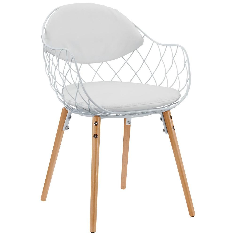 Basket Dining Metal Armchair White - Modway