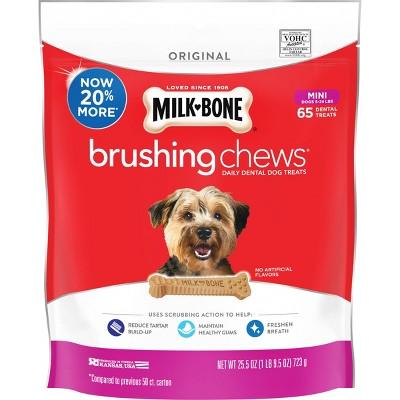 Milk-Bone Brushing Chews Daily Chicken Dental Dog Treats Mini