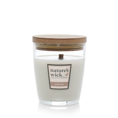 10oz Lidded Glass Jar Candle Teakwood - Nature's Wick
