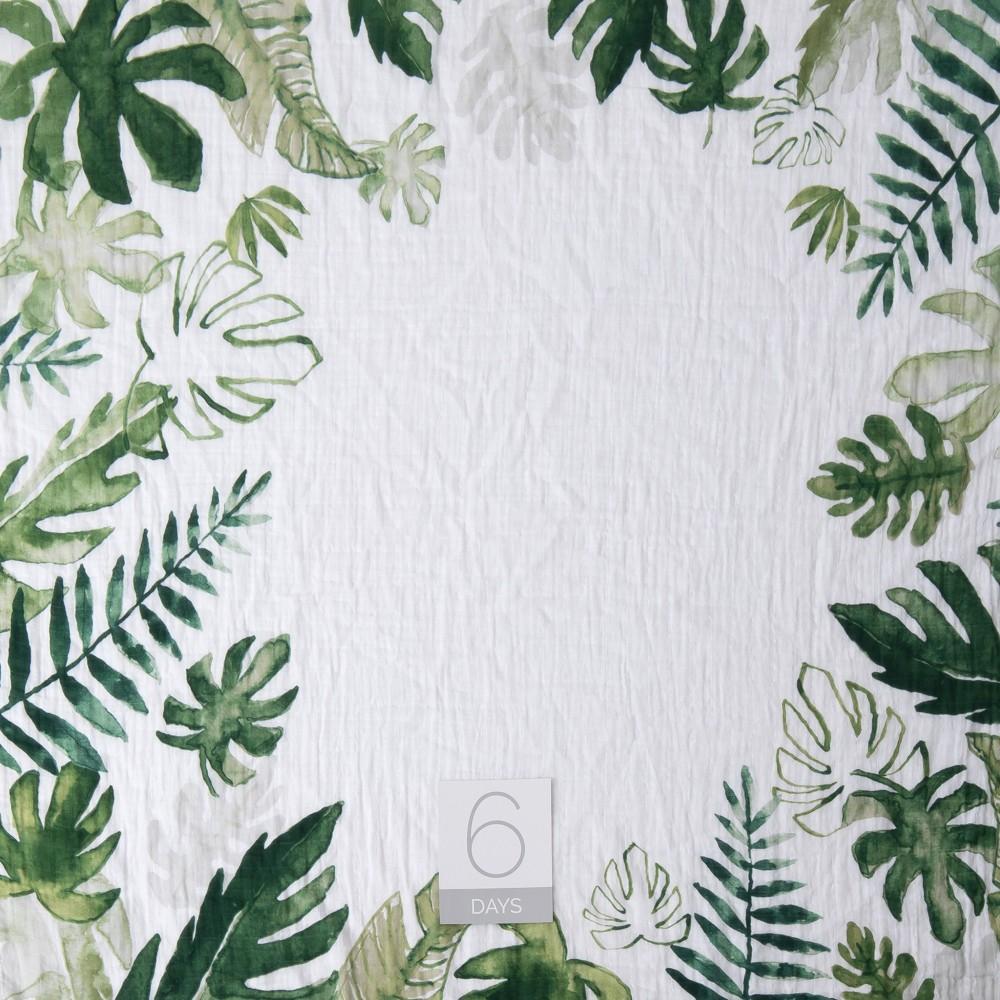 Little Unicorn Photo Blanket 38 Mileston Card Set Tropical Leaf