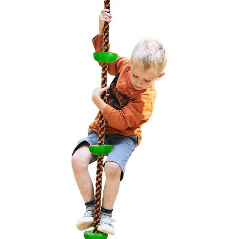 Hey! Play! Kids Backyard Climbing Rope Knotted Tree Swing Ladder - image 1 of 4
