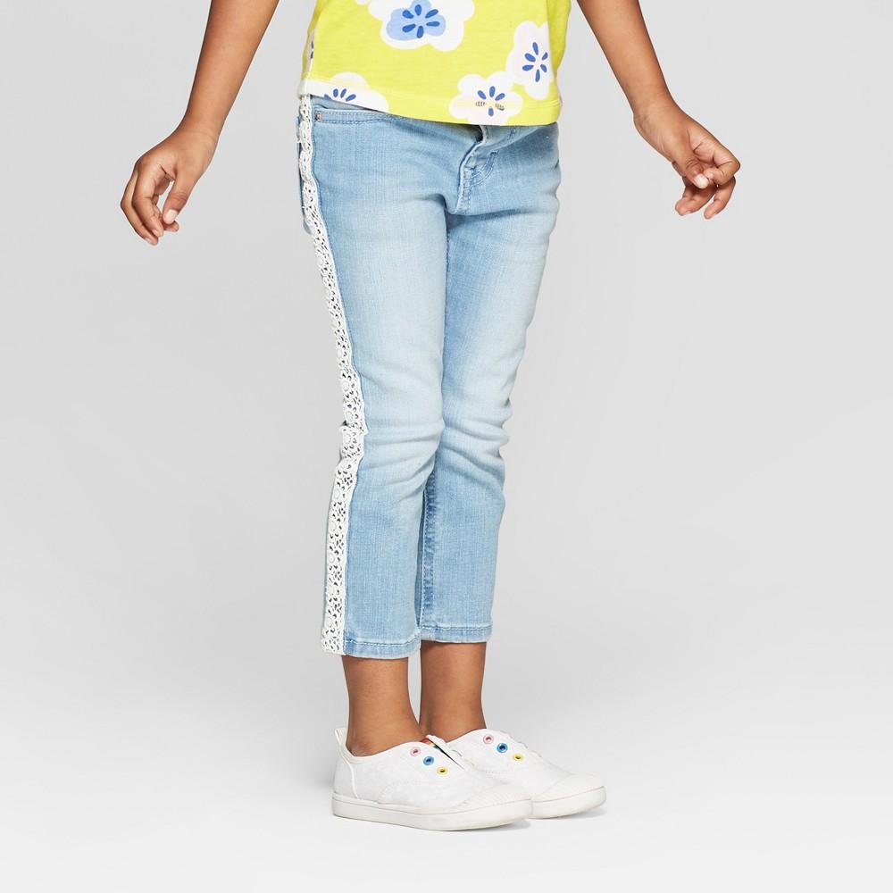 Toddler Girls' Embroidered Skinny Jeans - Cat & Jack Blue 4T