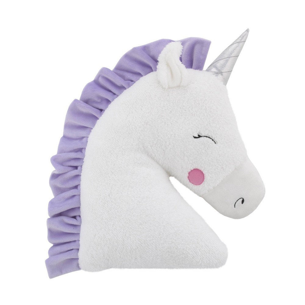 Image of NoJo Little Love Unicorn Throw Pillow