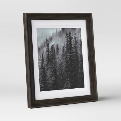 "8"" x 10"" Double Matted Table Frame Dark Brown - Threshold™"