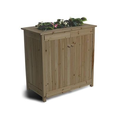 Algreen 32003 ErgoGarden Outdoor Weather Resistant Deck Box and Elevated Planter