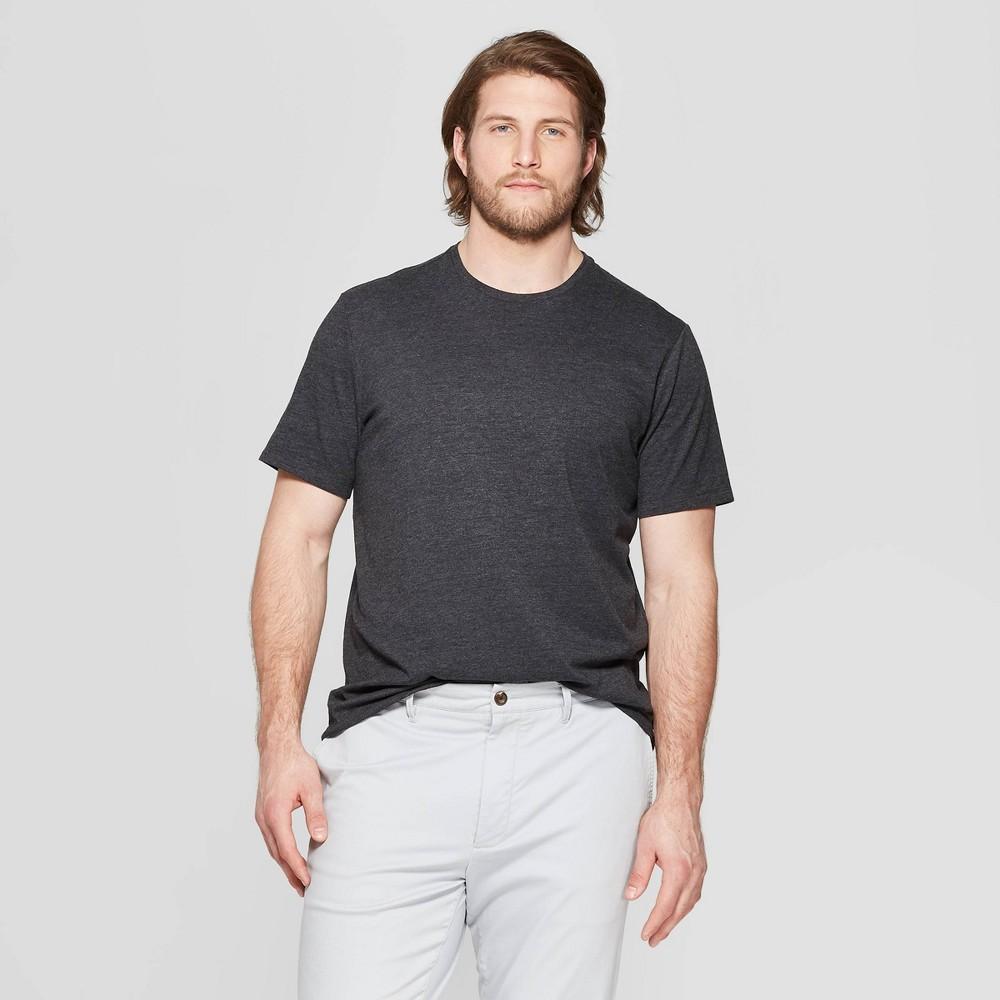 Men's Tall Standard Fit Short Sleeve Lyndale Crew T-Shirt - Goodfellow & Co Railroad Gray Xlt