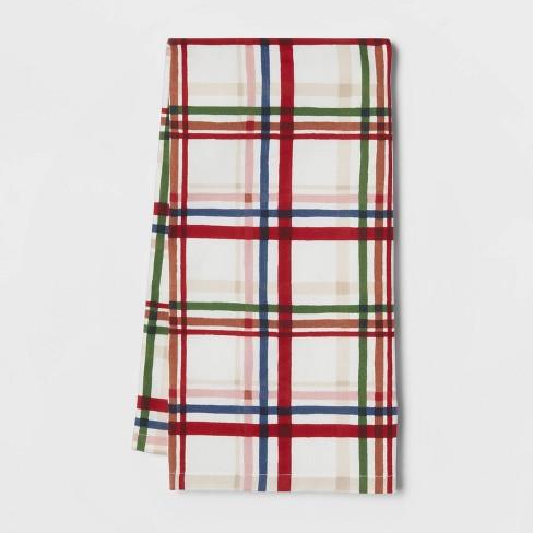 Cotton Multi-Plaid Kitchen Towel - Threshold™ - image 1 of 3