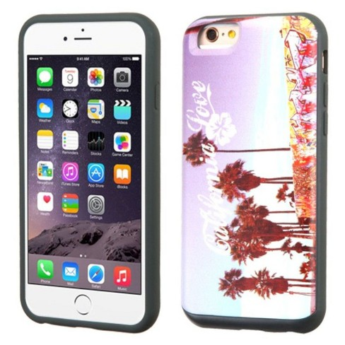 MYBAT For Apple iPhone 6 Plus/6s Plus Purple California Love Venice Hard Hybrid Case Cover - image 1 of 3