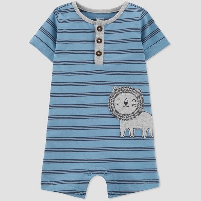Baby Boys' Lion Romper - Just One You® made by carter's Teal 6M