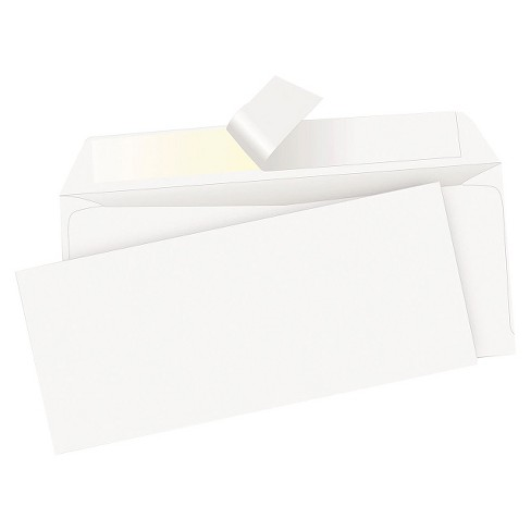 Quality Park Redi-Strip Envelope, Contemporary, #10 - White (500 Per Box) - image 1 of 1