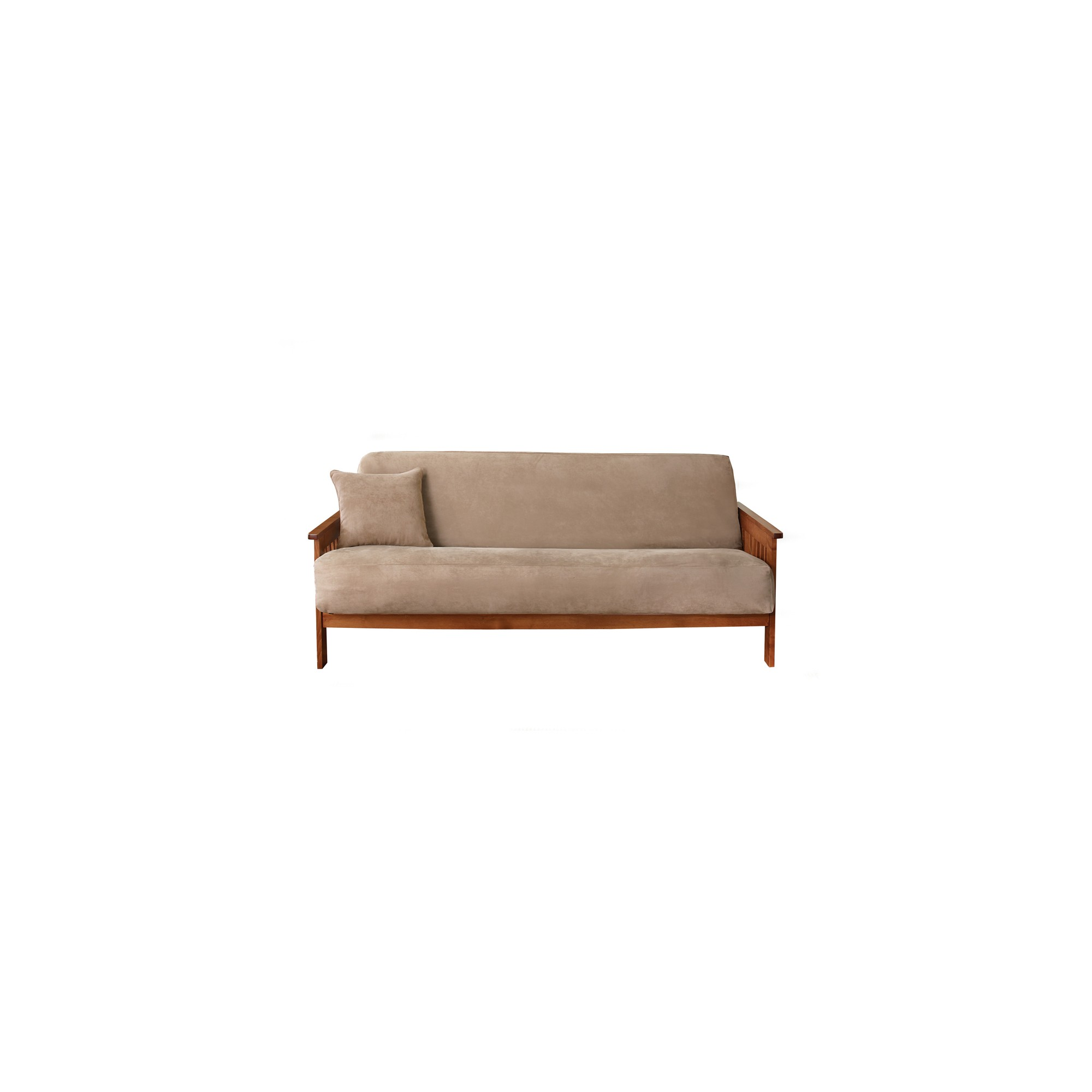 Soft Suede Futon Cover Taupe - Sure Fit, Brown