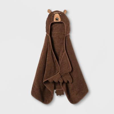 Bear Hooded Bath Towel Golden Brown - Pillowfort™
