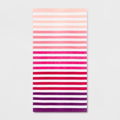 Stripe Beach Towel Ombre Pink - Sun Squad™
