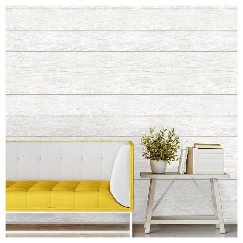 Devine Color Textured Shiplap Peel Stick Wallpaper Mirage Target