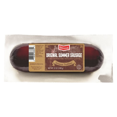 Klement's Cheddar Summer Sausage - 12oz - image 1 of 1