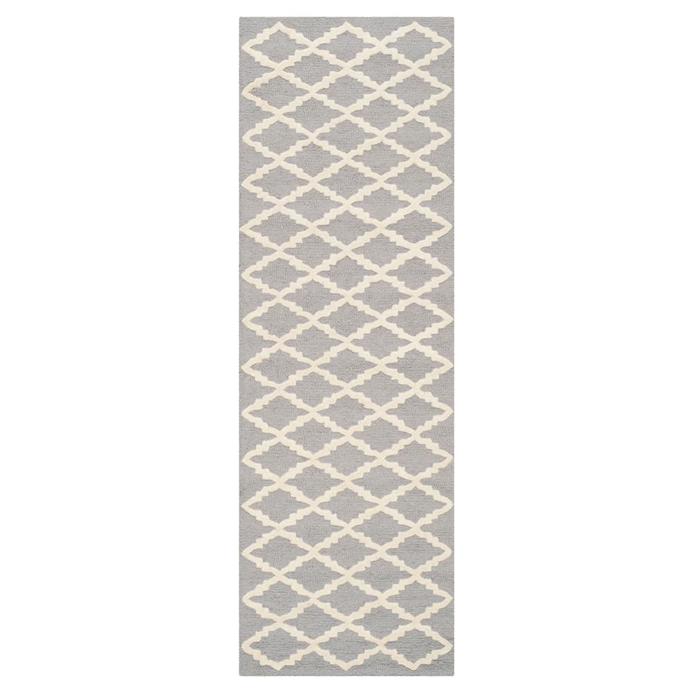 Denzel Area Rug - Silver/Ivory (2'6x10') - Safavieh