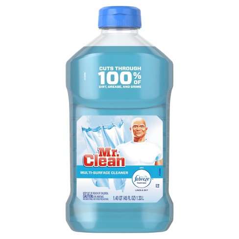 Mr Clean with Febreze Freshness Linen & Sky Liquid Multi Surface Cleaner - 45 fl oz - image 1 of 3