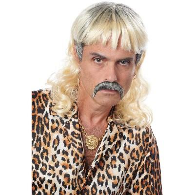 Franco Tiger Mullet Moustache and Wig
