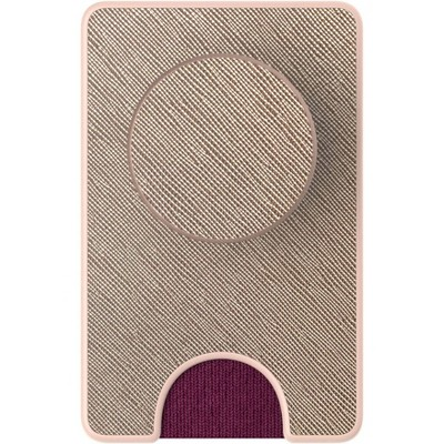 PopSockets PopWallet + (with PopGrip Cell Phone Grip & Stand) -Saffiano Gold