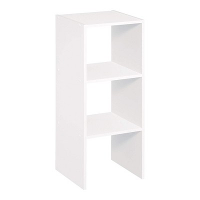 Closetmaid Decorative Home Stackable 2-Cube Cubeicals Organizer Storage in White with Hardware for Office, Home, Closet, or Toys