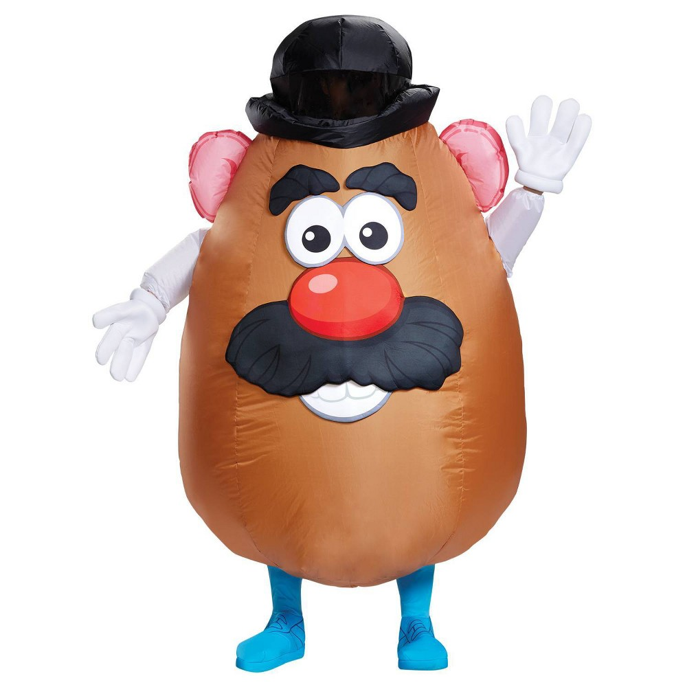 Image of Halloween Adult Toy Story Mr. Potato Head Inflatable Halloween Costume One Size, Adult Unisex, MultiColored
