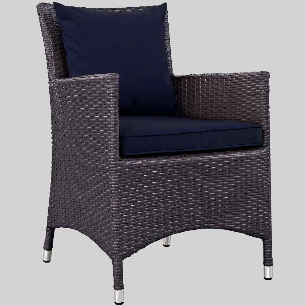Convene Dining Outdoor Patio Armchair - Navy (Blue) - Modway